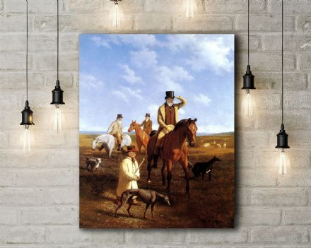 Jacques-Laurent Agasse: Lord Rivers and Friends Coarsing. Fine Art Canvas.